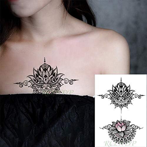 tzxdbh Impermeable Etiqueta engomada del Tatuaje Datura Flor ...