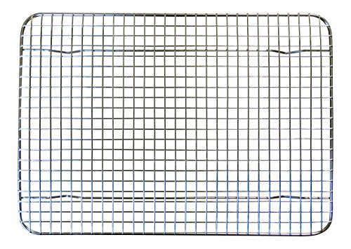 Amazon stainless steel cooling rack 85 inches x 12 inches amazon stainless steel cooling rack 85 inches x 12 inches heavy duty commercial metal wire grid rack quarter sheet size kitchen dining keyboard keysfo Choice Image
