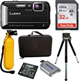 Cheap Panasonic DMC-TS30R LUMIX Active Lifestyle Tough Camera (Black) w/Action Bundle