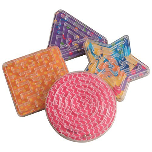 U.S. Toy Lot of 12 Assorted Color and Design Mini Maze Puzzle ()