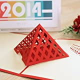 Papercraft Pop-Up Louvre 3D Greeting Cards