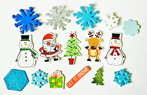 ed Christmas Theme Craft Foam Sticker Variety Pack Assortment, Includes 30 Pieces ()