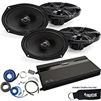 MB Quart ZA2-1600.4 Amp, two pairs ZK1-169 6x9 Speakers & Wire Kit