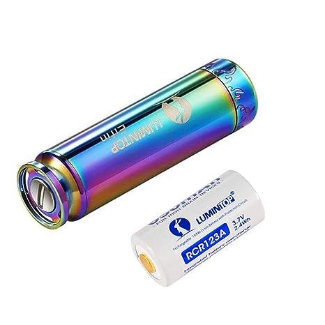 Amazon.com: Llavero de 520 lúmenes EDC LED Mini linterna con ...