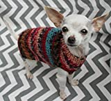 Rustic Dog Puppy Sweater Dress XXS/XS 2 1/2 to 4 Lbs Fair Isle in Brown Chihuahua Yorkie Pomeranian Maltese Toy Teacup Breed