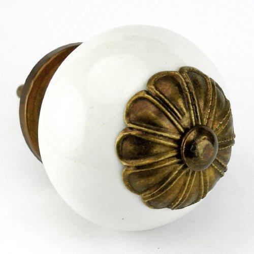 Flower Cabinet Knob Antique Brass - 9