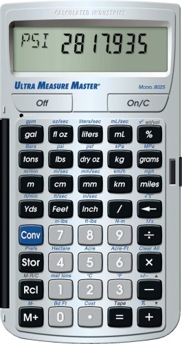 Calculated Industries 8025 Ultra Measure Master Measurement Conversion Calculator, Silver by Calculated Industries