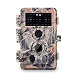 Meidase Trail Camera 16MP 1080P, Game Camera with No Glow Night Vision Up to 65ft, 0.2s Trigger Time Motion Activated, 2.4'' Color Screen and Unique Keypad, Waterproof Wildlife Hunting Camera