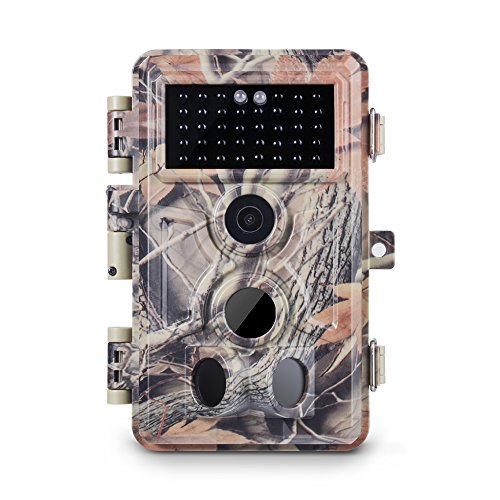 Meidase Trail Camera 16MP 1080P, Game Camera with No Glow Night Vision Up to 65ft, 0.2s Trigger Time Motion Activated, 2.4