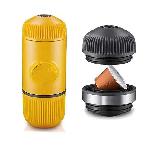 HSJLH Mini cafetera portátil, cápsulas y Mini presión en Polvo ...