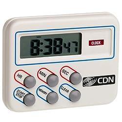CDN TM8 Multi Task Digital Timer and Clock-Loud and Long Alarm