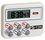 CDN TM8 Multi Task Digital Timer and Clock-Loud and Long Alarm