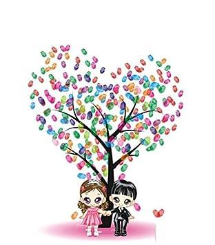 Zzhh Kreative Hochzeit Fingerabdruck Teilnahme Fingerabdruck Baum
