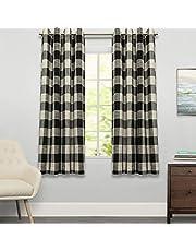 """لوحة معالجة ستائر النوافذ من Sweet Home Collection مقاس 63"""" أو 84"""" طويلة بأنماط وتصميمات أنيقة وفريدة من نوعها لجميع الديكورات المنزلية المتتالية"""