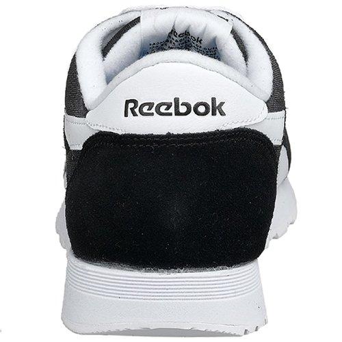 Zapatilla Hombre Classic White de Reebok Running Black Negro Nylon 1pCqXx6