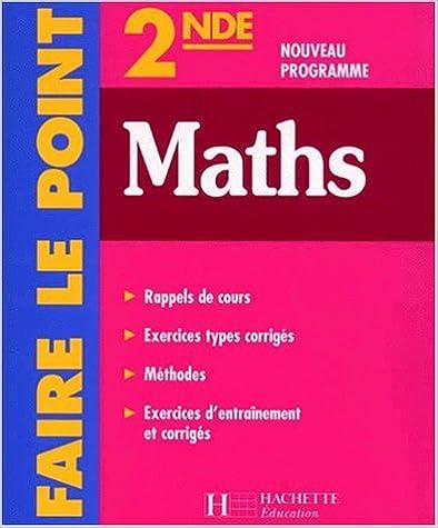 Livre gratuits en ligne Faire le point : Maths, 2nde pdf epub