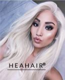 Heahair Fashion Color Blonde Natural Handited Syntheyic Lace Front Wig for Women Party