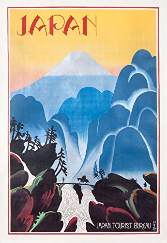Japan Tourist Bureau - Vintage Advertisement (16x24 SIGNED Print Master Giclee Print w/Certificate of Authenticity - Wall Decor Travel Poster)