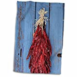 "3D Rose Chili Ristras-Santa Fe-New Mexico-Usa-Us32 Jmr1349-Julien McRoberts Towel, 15"" x 22"""