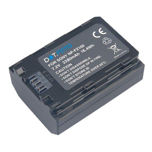 Sony NP-FZ100 Premium Dot Batería de Reemplazo - 7.2V/2280mAh - Garantía de 2 años para Sony Alpha ILCE-7M3, ILCE-7 Mark III, ILCE-7RM3, ILCE-7R Mark III, ILCE-9