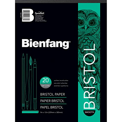 Bienfang Bristol 9-Inch by 12-Inch Paper Pad, Smooth
