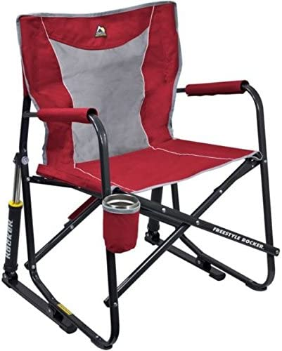 Camping Fold GCI Outdoor Freestyle Rocker Mesh Chair in Red