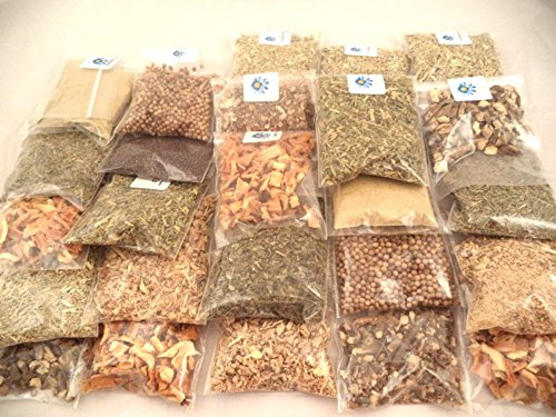 Sacred Tiger - 20 Herb - (A) Kit - Sampler Kit - Herbal Teas - Kitchen - Brew - Cooking - Seasoning - Culinary (Herbs Dried Flowers)