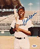 Hank Aaron Braves Signed 8x10 Photo Signed Autograph - PSA/DNA Certified