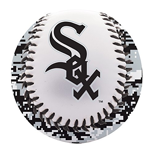 Franklin Sports Chicago White Sox Baseball Teeball - Soft Strike - Digi Camo Graphic PVC Cover - Soft Core - MLB Official Licensed Product Chicago Cubs White Camo