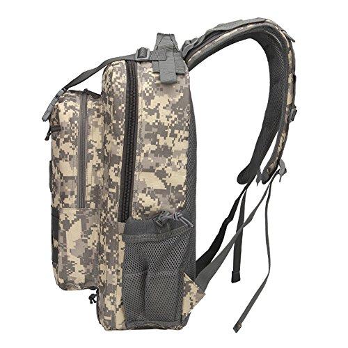 Outdoor Kombination Rucksack Camouflage großen Sport Tactical Rucksack Camping Wandern Klettern Tasche Camouflage1 7tA6v