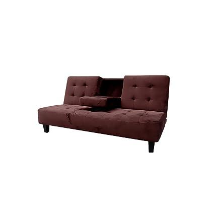 Amazon.com: Milton Greens Stars 7501BR Madrid Futon Sofa Bed ...