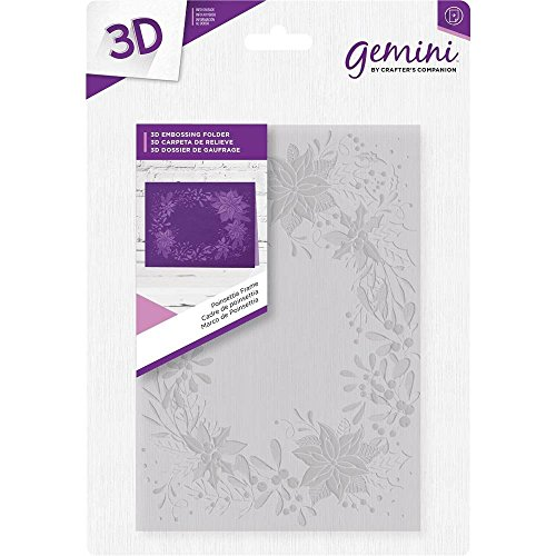Crafter's Companion 5'' x 7'' 3D Card Embossing Folder - Poinsettia Frame by Gemini