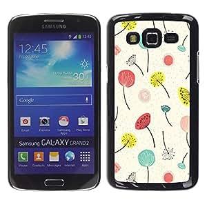 Paccase / SLIM PC / Aliminium Casa Carcasa Funda Case Cover para - Spring Summer Floral Flowers - Samsung Galaxy Grand 2 SM-G7102 SM-G7105