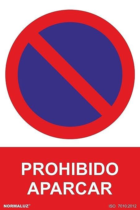 Normaluz RD40040 - Señal Prohibido Aparcar PVC Glasspack 0,7 mm 21x30 cm