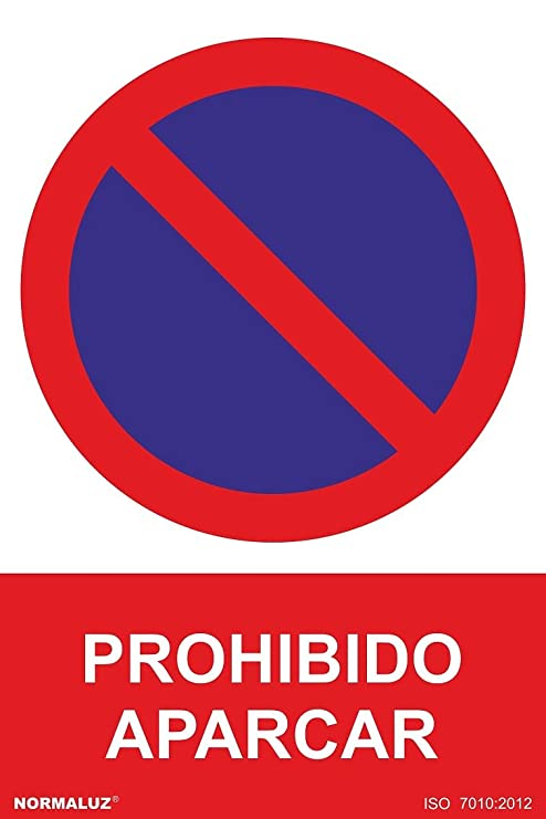 Normaluz RD41040 - Señal Prohibido Aparcar PVC Glasspack 0,7 ...