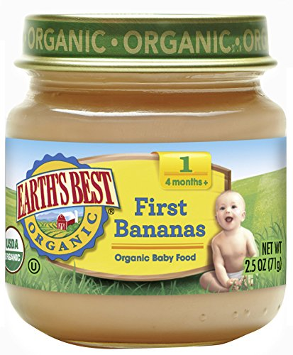 Earth's Best Organic Stage 1 Baby Food, First Bananas, 2.5 oz. Jar