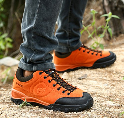 Breathable Orange Men SK Women's Unisex Shoes Hiking Studio tUqUP