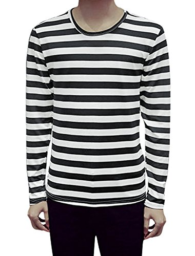 uxcell Long Sleeves Stripes Shirt