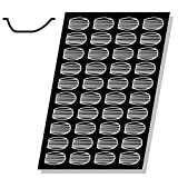 Demarle FP 01511 Flexipan 1.5 Oz. Madeleine Tray with 40 Molds