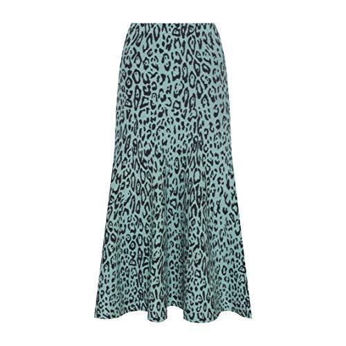 Gig Couture Saia Midi Leopard Lurex M Verde Claro E Preto