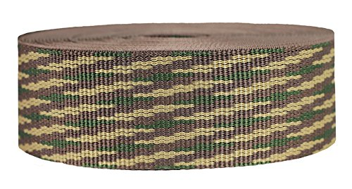 Strapworks Heavyweight Polypropylene Webbing - Heavy Duty Poly Strapping for Outdoor DIY Gear Repair, 2 Inch x 50 Yards - Woodland Camo