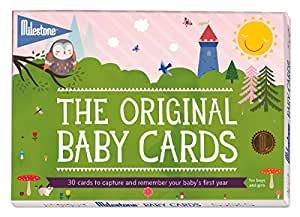 Milestone - Baby Photo Cards Original - Set of 30 Photo Cards to Capture your Baby's First Year in Weeks, Months, and Memorable Moments