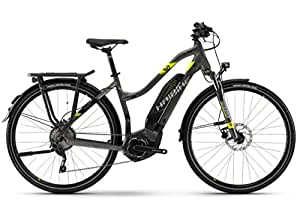 Bicicleta eléctrica Haibike modelo Sduro, bicicleta de trekking 4.0, modelo de 2018, color Anthrazit/Schwarz/Lime, Ladies, tamaño 40, tamaño de rueda 27.00