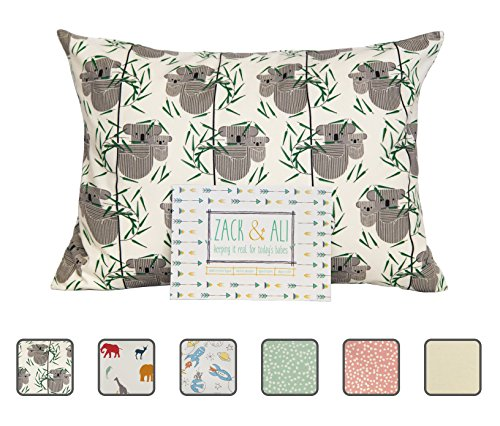 Zack & Ali 100% Organic Toddler Pillowcase (Koala), 13 X 18, Made in USA!