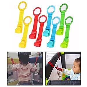OFKPO 8 Piezas Anillas para Cunas y Parques, Tira de Textile, Parquecitos De Los Niños para Ayudar Los Bebes Levantarse