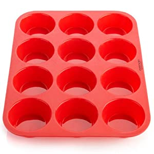 Amazon Com Ovenart Bakeware Silicone 12 Cup Muffin Pan