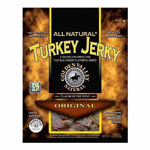 Golden Valley Natural Turkey Jerky, Original 3.5 oz (PACK OF (Golden Valley Natural Jerky)