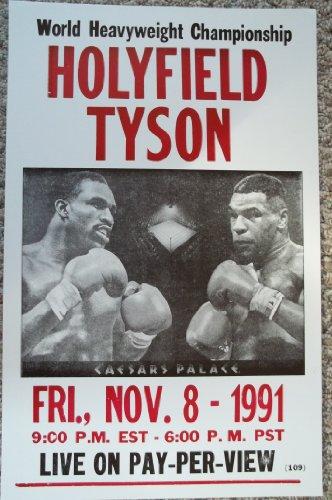 (Holyfield Vs Tyson World Heavyweight Championship Poster)