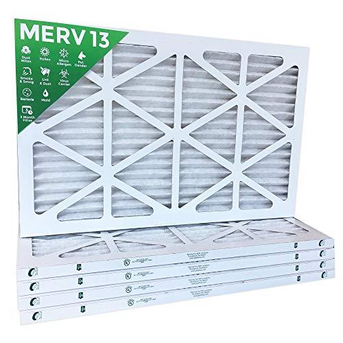 10x24x1 Merv 13 Mpr 2200 Pleated Ac Furnace Air Filters