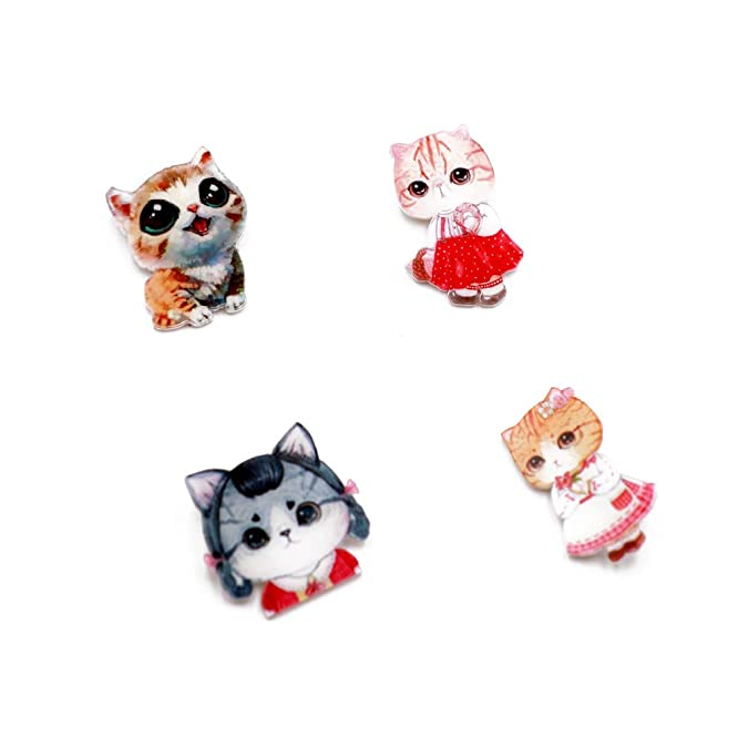 b2ce94013 Amazon.com: Forch 12 PCS Animals Cartoon Pins Cat Dog Acrylic Brooch Women  Girls Cute Badges Clothes Bags Backpacks Hat Jacket (AB12-01): Jewelry